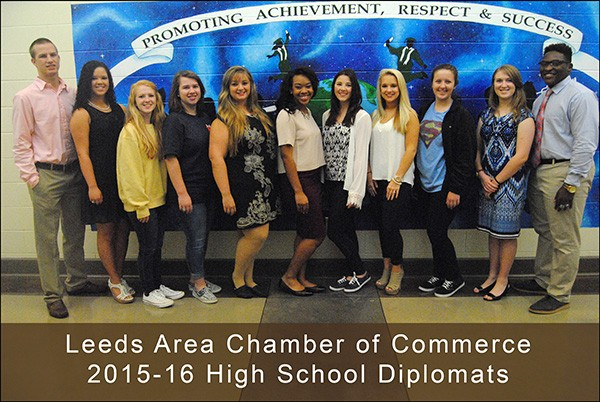 The Leeds Area Chamber of Commerce provides a High School Diplomat Program for outstanding students who would like to participate | 205.699.5001