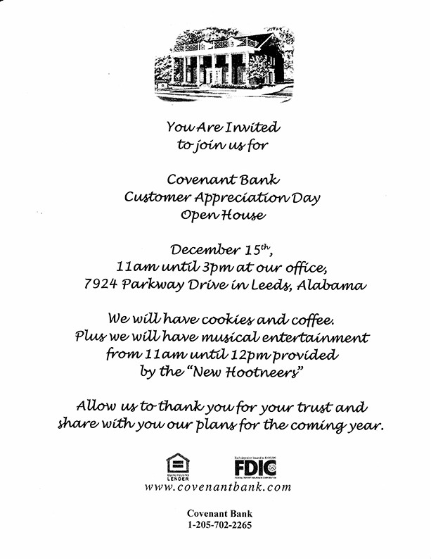customer appreciation invitation