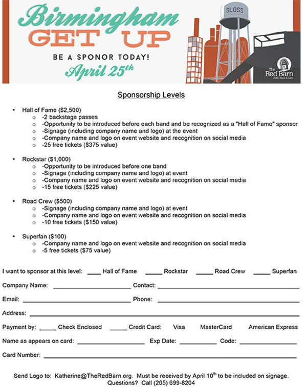 Fundraising Resources  Skcfundraising Sponsorship Form  Order