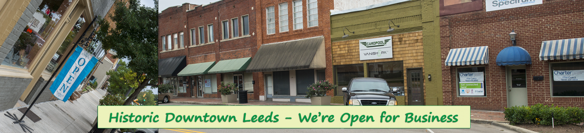 Historic Downtown Leeds, Alabama a great place to shop