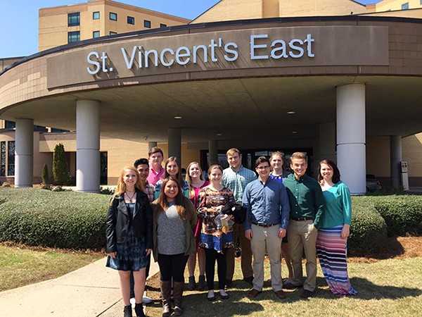 LACC Diplomats Tour St. Vincent's East:  These high school students toured St. Vincent's East last week as part of their leadership program with the chamber.