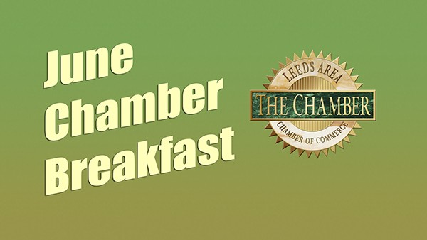 Leeds Area Chamber of Commerce will host their monthly meeting as a breakfast instead of lunch at 8:00 am Thursday, June 15, 2017 at the Leeds Fire Station.