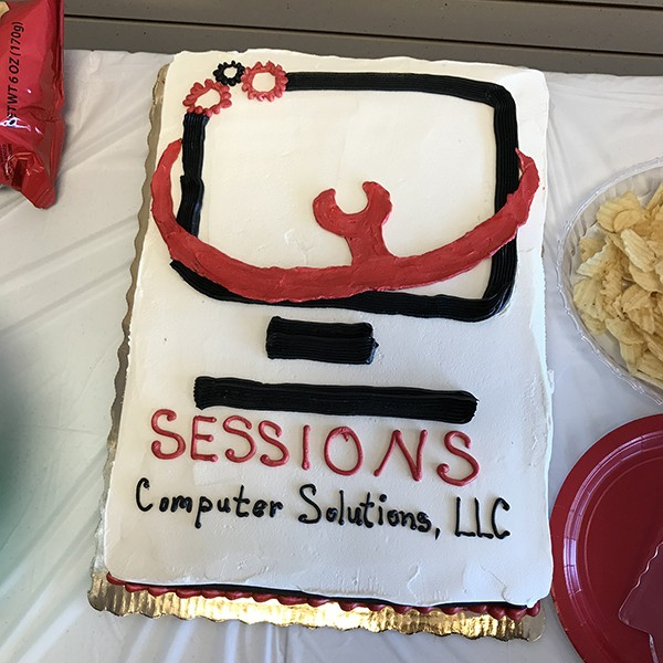 Sessions Computer Solutions, LLC Ribbon Cutting: The City of Leeds and the Leeds Area Chamber of Commerce held a ribbon cutting at their new Leeds location.
