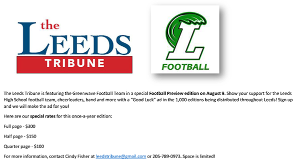leeds tribune football preview edition ads leeds area chamber of