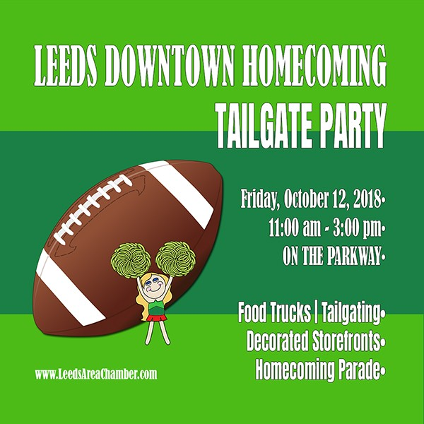 Downtown Leeds Homecoming Tailgate Event - Leeds Area Chamber of